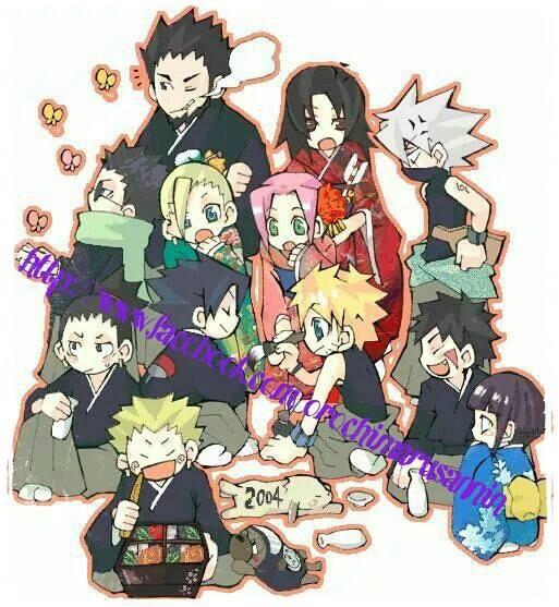 Naruto Sakura Sasuke Shikamaru Ino Choji Kiba: Asuma Kurenai Shino Ino Sakura Kakashi Shikamaru Sasuke