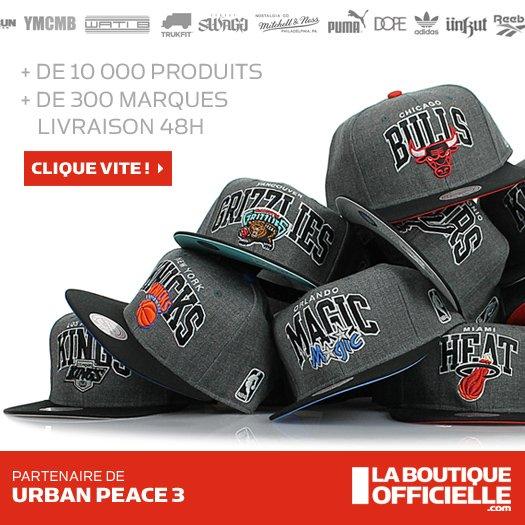 La boutique officielle est partenaire d'Urban Peace 3
