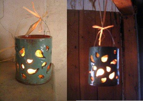 Photophore atelier d 39 art gdam poterie - Modele poterie pour debutant ...