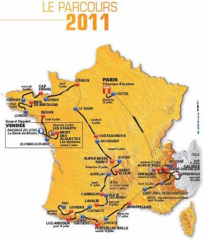 Parcours Tour de France 2011