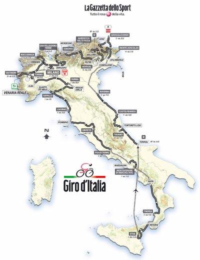 Parcours Giro 2011