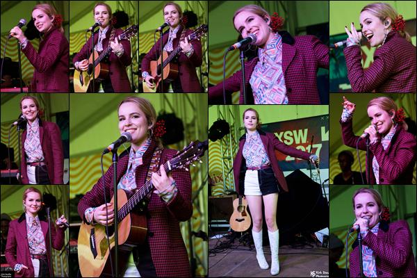. 15/03/17 - Bridgit était présente lors du « South by Southwest Music Festival  », qui s'est tenu à Austin, Texas.   Lors de cet événement, Bridgit à chantée les titres de son nouvel EP. Concernant sa tenue, c'est un flop pour ma part. Votre avis ? .