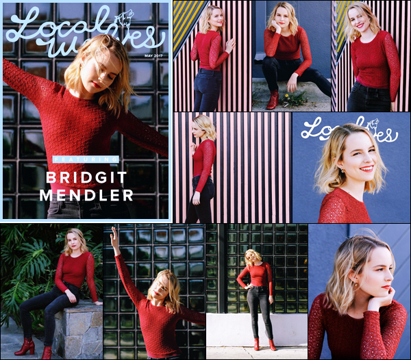 . Bridgit fait la couverture du magazine « Local Wolves » du mois de mai 2017.  .