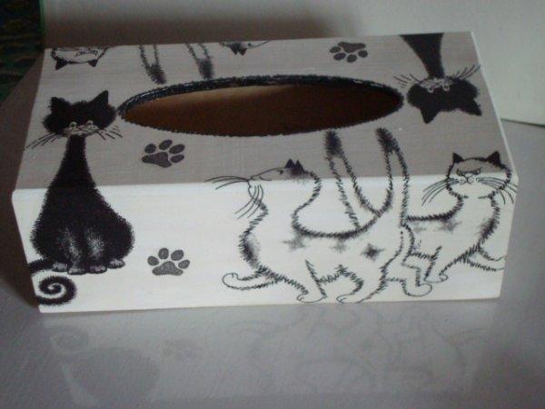 autre face boite a mouchoirs chats