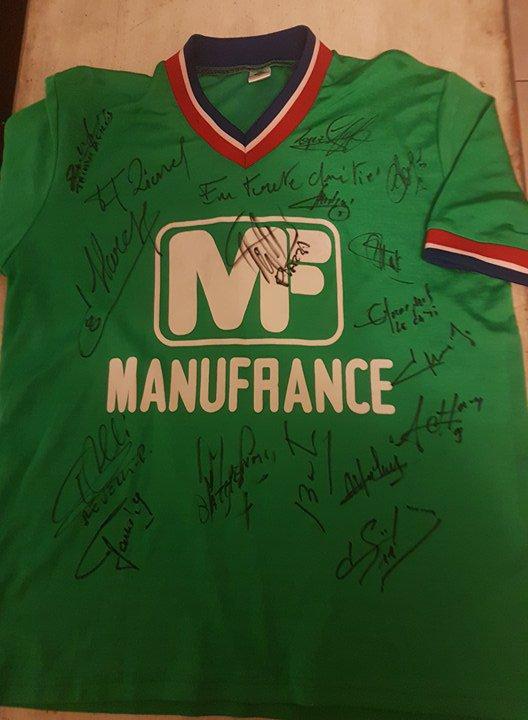 maillot asse 1976 signé par tous les  joueurs
