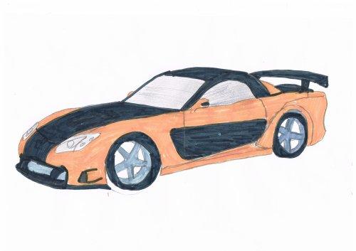Mazda Mx 7 Fast And Furious 3 Bryan Le Dessinateur De La 5a