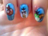 nail art angry birds