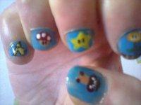 nail art mario :)