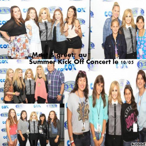 Demi au Summer Kick Off Concert le 10/05