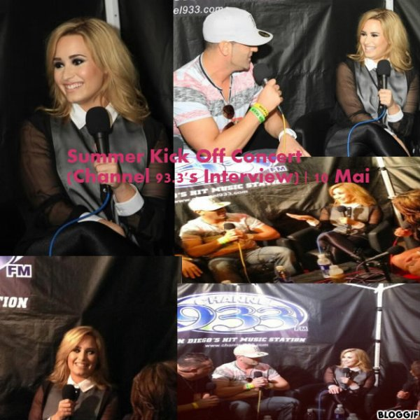 Demi au Summer Kick Off Concert le 10/05
