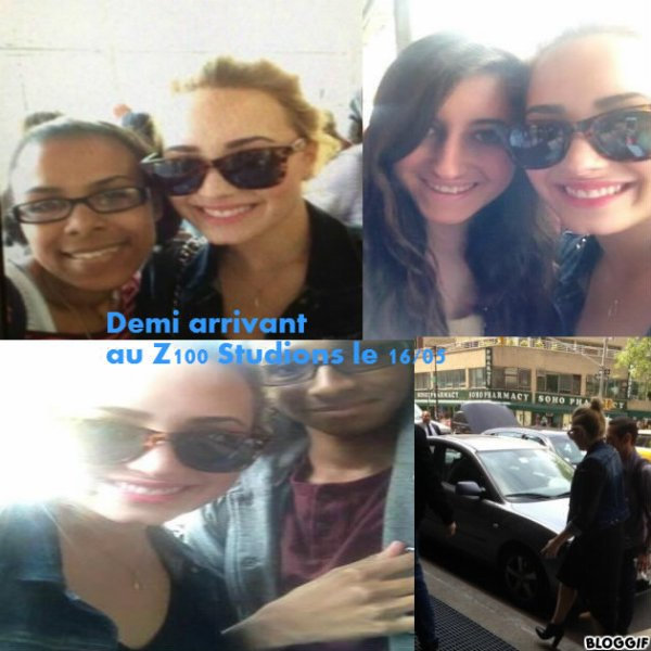 Demi Lovato au Z100 Studios le 16/05