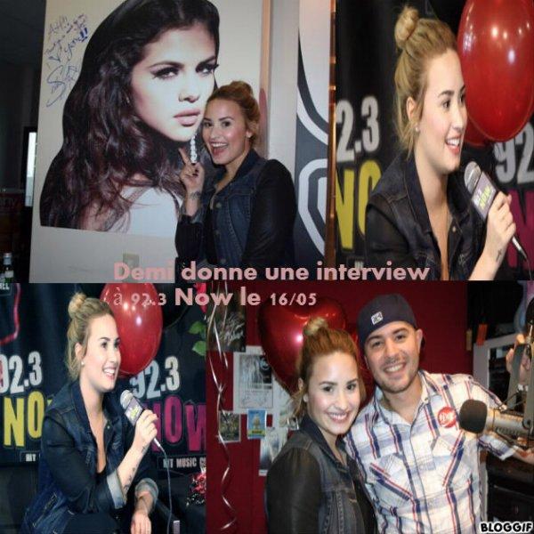 """Demi Lovato donne une interview à """"92.3 NOW"""""""