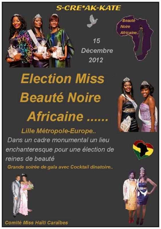 Miss Beaute Noire Lille Métropole Europe 2012
