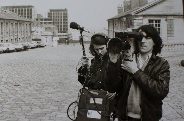 1982. Patrick Denaud avec Claudine Nougaret...