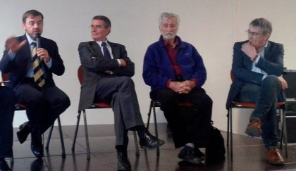 Patrick Denaud au salon du livre de Lenvor avec Thierry Jouan, Dominique Fontvielle, et Bob Maloubier