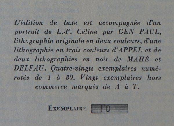 L'HERNE, cahier n°3, 1963. CÉLINE (Louis-Ferdinand)