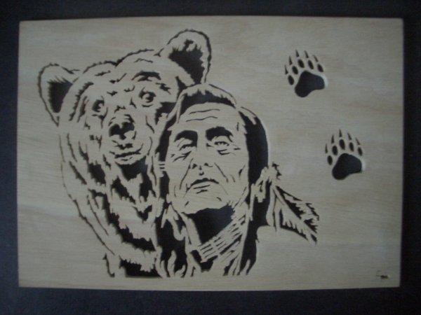 l'ours et l'indien