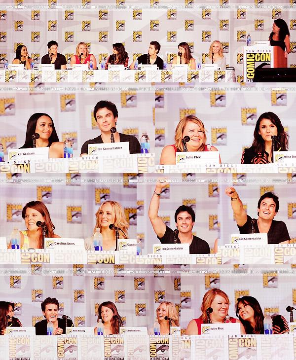 20/07/13 • Une majeure partie du cast était comme chaque année, au célèbre « Comic Con » de San Diego.