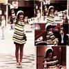 leamichelle __24 AVRIL _____ Léa été sur le tournage d'un nouvel épisode de Glee . __________________ pour moi, c'est un top, j'aime beaucoup les couleurs. TOP ou FLOP ?  lea michelle