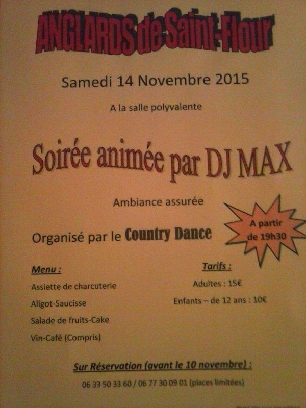 soirée animé par DJ MAX + repas