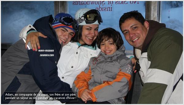 * Photo personnel - Adam en compagnie de sa petite famille, surement pendant un séjour au ski !*