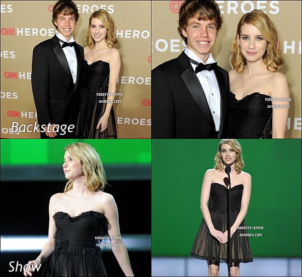 11 Décembre 2011: Emma Roberts était présente au « 2011 CNN Heroes Tribute » .