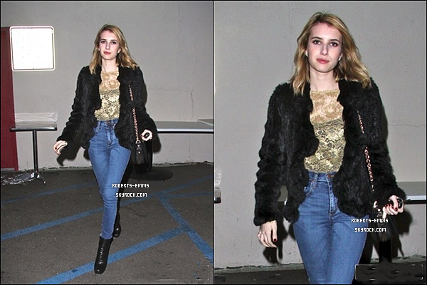 09 Décembre 2011: Emma Roberts a était vue quittant le « Craig's Restaurant » à West Hollywood .