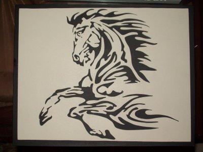 "cheval ""flammé"""