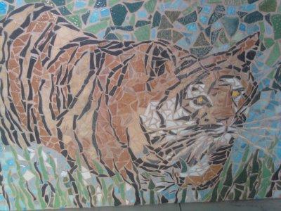 MOSAIQUE  (  TIGRE  DANS  LA  RIVIERE  )  580 euros