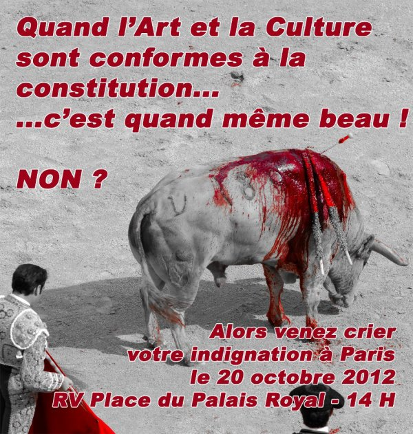Rassemblement anti-corrida le 20 octobre à Paris.
