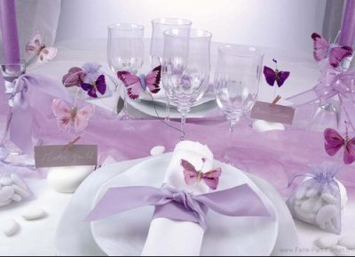 Decoration de table parme