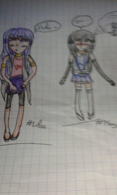 Deux nouveaux dessin surtout le nouvea look de Lilas