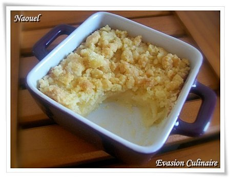 Crumble de crème au citron
