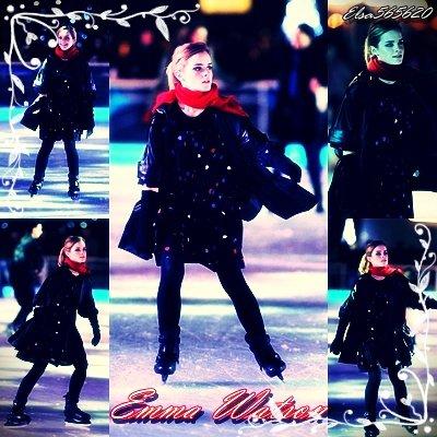 Emma Watson fais du patin
