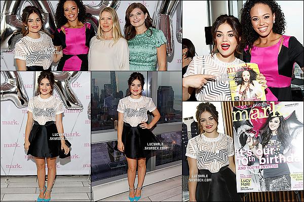 12/08/2013 :  Lucy H. était présente pour célébrer le 10ème anniversaire de la marque « Mark » à New York City.