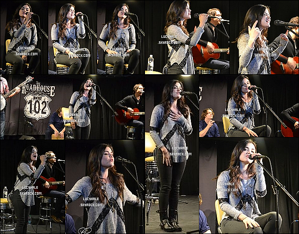 02/12/2013  :  Lucy Hale visitait et performait au RoadHouse avec K102 dans la ville de Minneapolis (Minnesota).