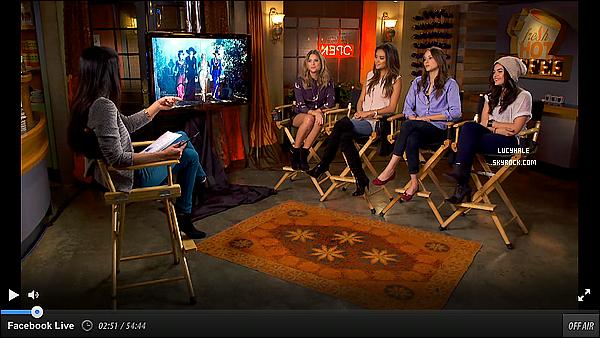 21/10/2013 : Nos jolies petites menteuses étaient réunies pour l'émission Good Morning America à LA. Cette matinale a été diffusé sur Facebook et les actrices ont parlé de l'épisode spécial Halloween de Pretty Little Liars.