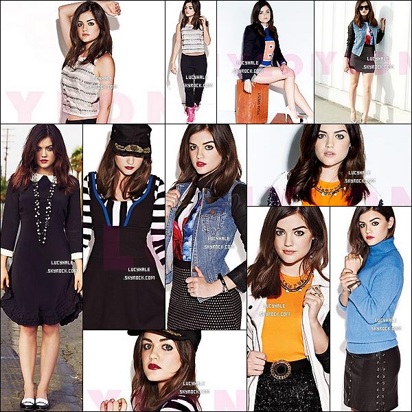 Lucy Hale fait la couverture du magazine « Nylon » du mois de Janvier 2014 ! Vous aimez ?De plus, plusieurs scans ont également été postés sur Lucy concernant sa carrière d'actrice ainsi que sur celle de chanteuse.