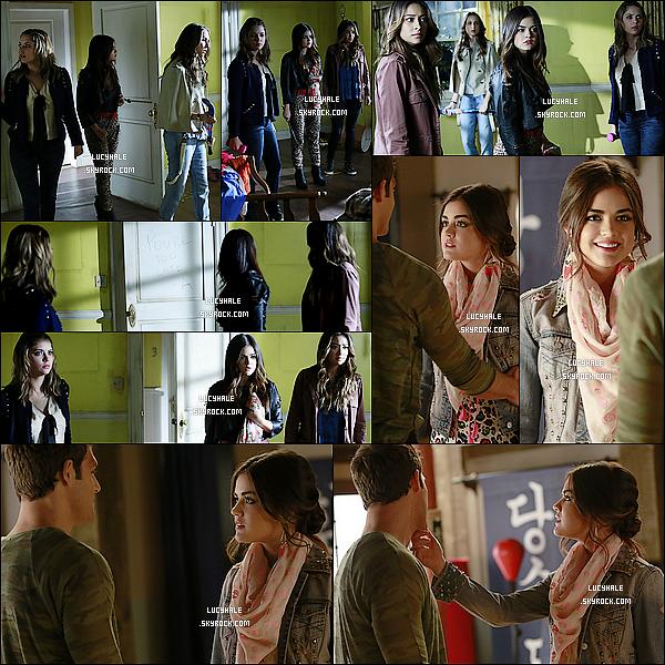 Voici les stills promo de l'épisode 04 x 16 intitulé « Close Encounters » de Pretty Little Liars.Toutes les photos ayant été mises en ligne incluent Aria. L'épisode va donc faire avancer l'histoire de son côté apparement.