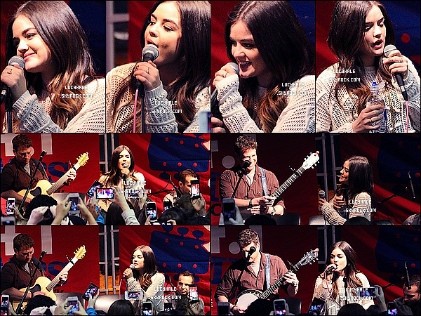 06/02/2014 : Lucy K. Hale a été vue performant au Hard Rock Café et a posé aux côtés de nombreux fans ! C'est plus souriante que jamais que nous retrouvons notre jeune chanteuse Lu'. Elle est tellement ravissante et naturelle.