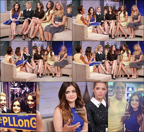 18/03/2014 : Nos cinq jolies petites menteuses étaient présentent à l'émission Good Morning Amercia  (NY). Je trouve que, cette fois-ci, la tenue de Lucy est plus jolie que celle des autres contrairement à l'événement précédent !