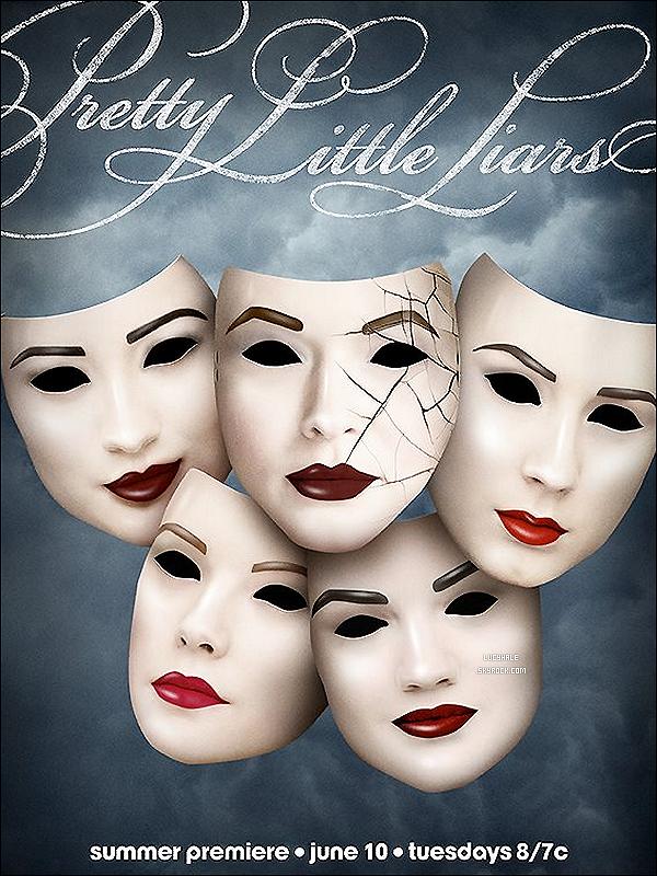 • Poster officiel de la saison 5 de Pretty Little Liars. WAHOU !