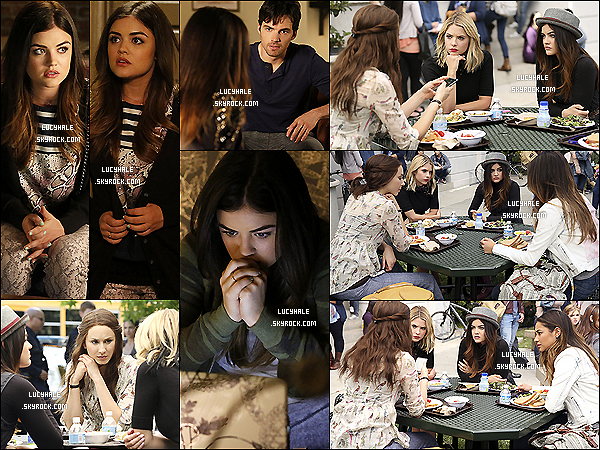 New stills de l'épisode 05 x 04 de la série PLL intitulé « Thrown From The Ride ».