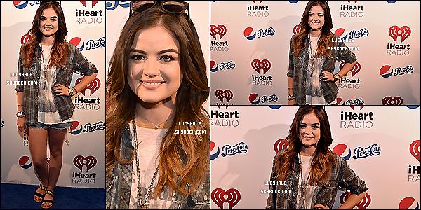 17/06/2014 : La belle Lucy s'est rendue aux « iHeartRadio Album Release Party » qu se déroulait à Burbank. (Calif) Une tenue qui change les habitudes de Lu' mais qui lui va super bien ! Je suis pour la chemise à carreaux. Stylée ! Un top.