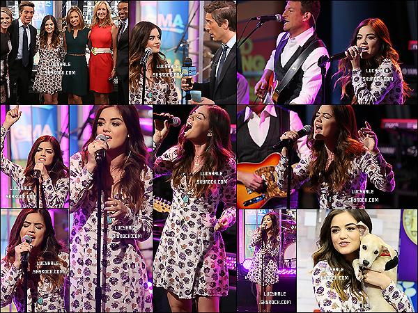 30/06/2014 : Miss Hale s'est rendue à l'émission « Good Morning America » pour promouvoir son album à NY. En effet, la belle était présente et a performé quelques chansons avant d'être interviewée par le présentateur. Vos avis ?