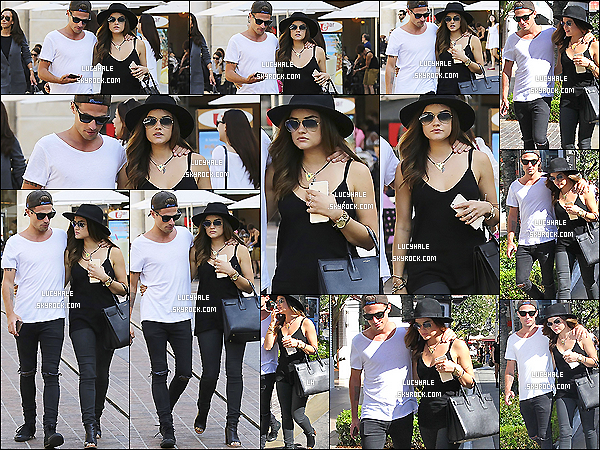 10/10/2014 : Lucy et son petit copain Adam Pitts sortaient de l'hôtel The Grove situé à West Hollywood. (LA)Le couple est mignon mais j'ai l'impression que L. se donne un style un peu rock quand elle est avec lui pour lui correspondre.