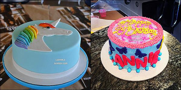 11/10/2014 : Lulu, chapeau sur ta tête, confectionnait de magnifiques gâteaux au Duff's Cakemix à West H.L. a préparé un gâteau pour l'anniversaire de sa meilleure amie Annie ainsi qu'un autre avec son animal préféré, la licorne.