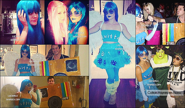 25/10/2014 : Lucy ou l'oiseau Twitter était présente à la fête d'Halloween de son ami Matthew Morrison à LA.Ce n'est pas étonnant de voir notre brunette fêter Halloween, c'est sa fête préférée ! Et la belle Lulu est des plus originales.
