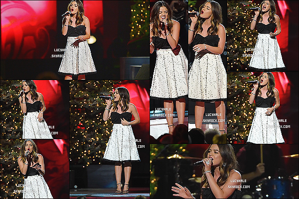 05/11/2014 : Lucy Hale, comme l'année passée, a performée aux CMA 2014 Country Christmas. (Tennessee)Robe très sympa. Il n'y a pas d'infos sur la chanson qu'elle a chanté lors de l'event. La retransmission aura lieu le 1er Décembre.