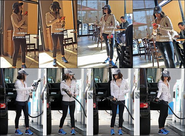 13/01/2015 : Premièrement, Lu s'est rendue dans un coffee shop, puis à la station service, à Los Angeles.   Oh là là, c'est quoi cette tenue ? On voit qu'elle n'avait pas envie de se prendre la tête. Mais bon, on lui pardonne. Hein ?